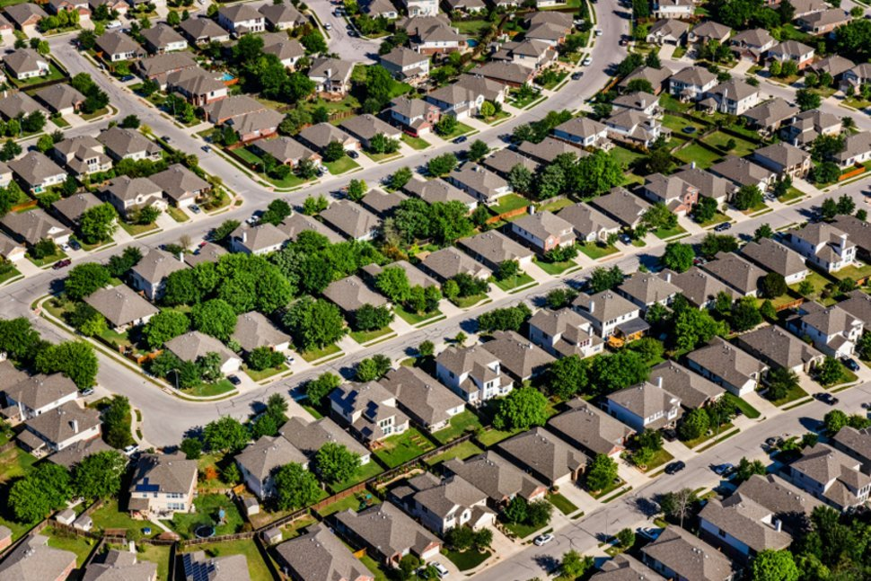 An overview of a subdivision